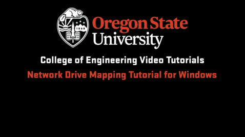 Thumbnail for entry Network Drive Mapping Tutorial for Windows