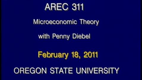 Thumbnail for entry AREC 311 Winter 2011 - Lecture 23