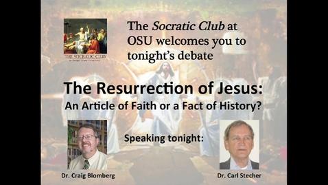 Thumbnail for entry Socratic Club Debate: February 2014