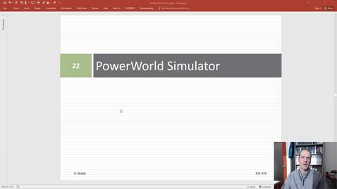 ESE 470 Power World Intro