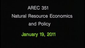 AREC 351 Winter 2011 - Lecture 06