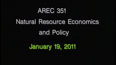 Thumbnail for entry AREC 351 Winter 2011 - Lecture 06
