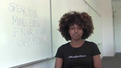 Thumbnail for entry Haniya Ferrell ~ 2015 OSU Students of Color Speak Out