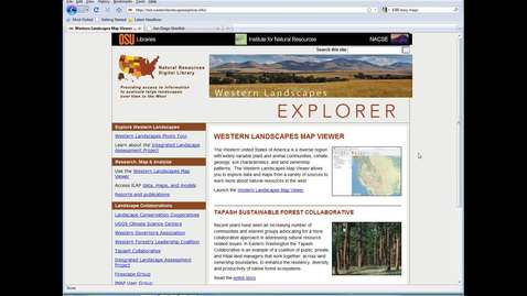 Thumbnail for entry Western Landscapes Explorer preview - September 25, 2012