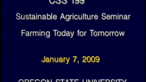 Thumbnail for entry CSS 199 Winter 2009 - Lecture 1