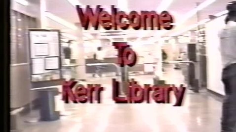 Thumbnail for entry Tour of the Kerr Library, 1992