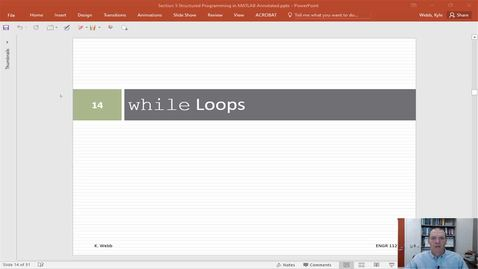 while Loops in MATLAB