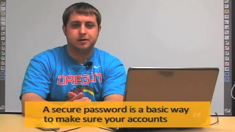 Thumbnail for entry Creating a Password