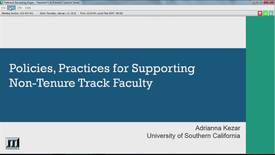 Thumbnail for entry Policies, Practices for Supporting Non-Tenure Track Faculty