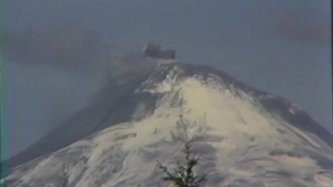 Mount St. Helens venting and eruption footage, 1980.