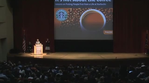 Thumbnail for entry 2011 College of Business Dean's Distinguished Lecture - Howard Behar Part 1