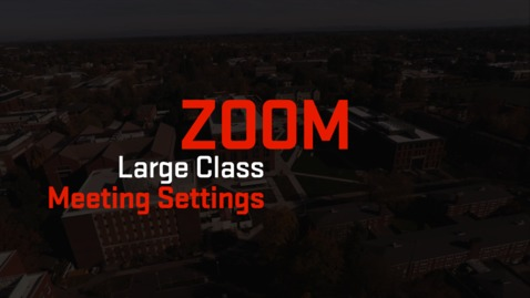 Thumbnail for entry Zoom | Large Class Meeting Settings