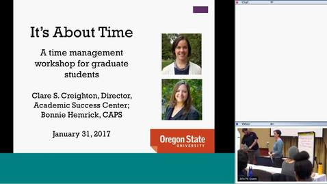 Thumbnail for entry It's About Time: A skill-building workshop for graduate students