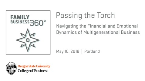Thumbnail for entry Passing the Torch: Navigating Financial and Emotional Dynamics of Multigenerational Business