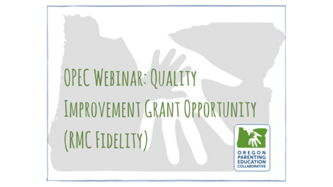 Thumbnail for entry OPEC Webinar: Quality Improvement Grant Opportunity (RMC Fidelity) [December 19, 2017]