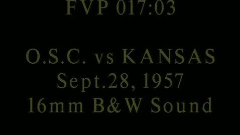 Thumbnail for entry OSC at Kansas football, September 28, 1957