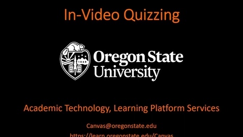 Thumbnail for entry In-Video Quizzing