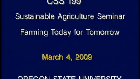 Thumbnail for entry CSS 199 Winter 2009 - Lecture 9