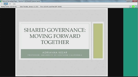 Thumbnail for entry Shared Governance by Adrianna Kezar