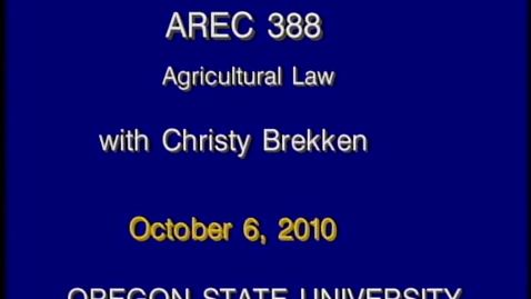 Thumbnail for entry AREC 388 Fall 2010 - Lecture 04