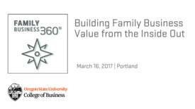 Thumbnail for entry Building Family Business Value from the Inside Out