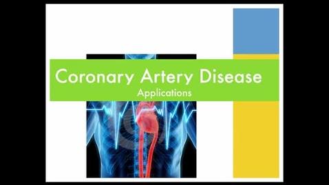 Thumbnail for entry Coronary artery disease - applications
