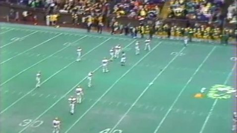Oregon State University vs. University of Oregon. Civil War football game, November 19, 1983. Second Half.