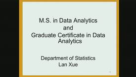 Thumbnail for entry Research Computing Seminar on Data Analytics, January 23, 2017