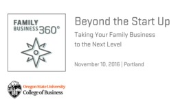 Thumbnail for entry Beyond the Start Up: Taking your Family Business to the Next Level