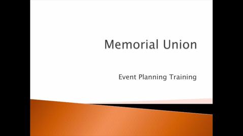 Thumbnail for entry Security, Volunteers, and Performers: MU Event Training (3 of 3)