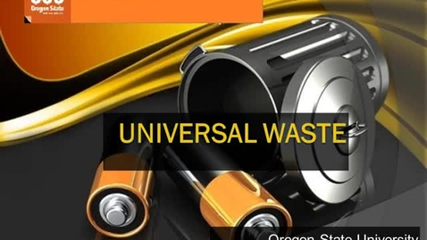 Thumbnail for entry Universal Waste Training