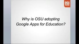 Thumbnail for entry Google Apps for OSU, The Essentials, Part 1