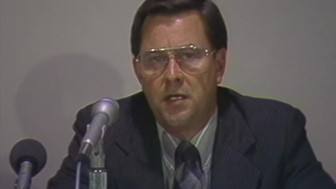 Thumbnail for entry Lynn Snyder and Dave Kragthorpe press conference on improvements to Parker Stadium; Jim Wilson interview on sonic testing of wood, May 1986