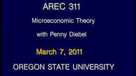 AREC 311 Winter 2011 - Lecture 30