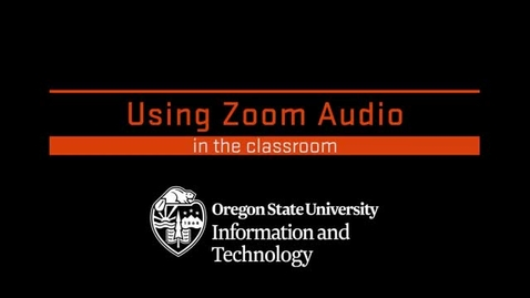 Thumbnail for entry Using Zoom Audio in the Classroom