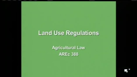 Thumbnail for entry AREC 388 Lecture 16