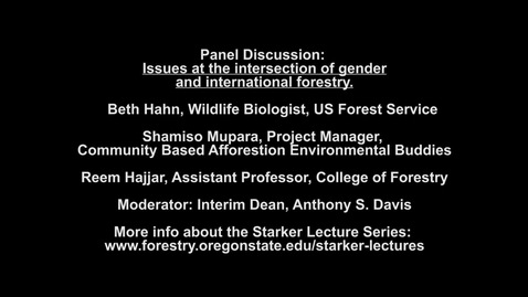 Thumbnail for entry 2020 Starker Lecture Series: Panel Discussion