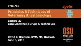 27 00 Local Anesthetic Drugs & Techniques