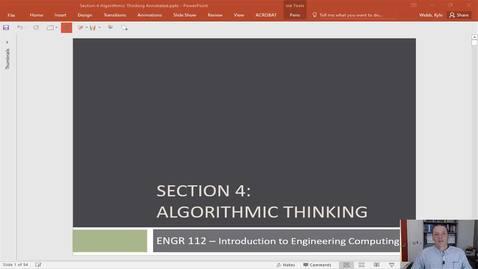 Thumbnail for entry Algorithmic Thinking Intro