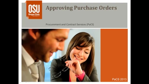 Thumbnail for entry Approving Purchase Orders in Banner