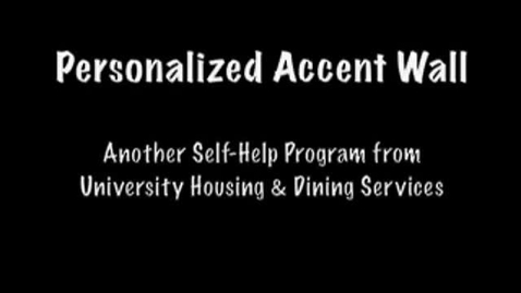 Thumbnail for entry Self Help - Accent Wall Video