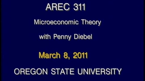 Thumbnail for entry AREC 311 Winter 2011 - Lecture 31