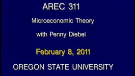 Thumbnail for entry AREC 311 Winter 2011 - Lecture 18