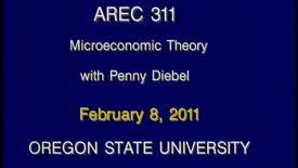 AREC 311 Winter 2011 - Lecture 18
