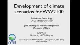 Thumbnail for entry Willamette Water 2100: Development of Climate Scenarios for WW2100, Dr. Phil Mote, January 25, 2013