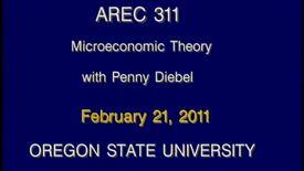 AREC 311 Winter 2011 - Lecture 24