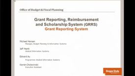 Thumbnail for entry Grant Financial Reports using GRRS