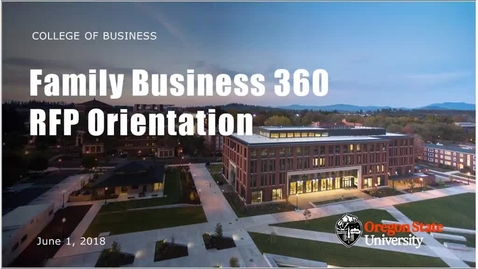 Thumbnail for entry Family Business 360 RFP   2018 Orientation Webinar