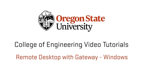 Thumbnail for entry Remote Desktop With Gateway - Windows