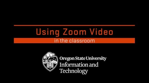 Thumbnail for entry Using Zoom Video in the Classroom